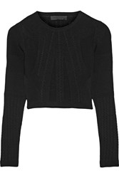 Cushnie Et Ochs Cropped Stretch Knit Top Black