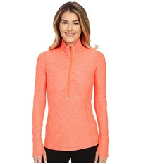 New Balance In Transit 1 2 Zip Top Dragon Fly Heather Women's Long Sleeve Pullover
