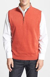 Men's Peter Millar Melange Fleece Quarter Zip Vest Serrano