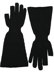 Rick Owens Wide Arm Gloves Black