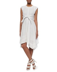 Rebecca Taylor Netted Eyelet Tie Waist Dress