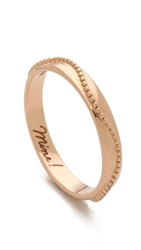 Monica Rich Kosann Mine Beading Ring Rose Gold