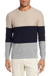 Eleventy Men's Sponge 3 Colorblock Wool Blend Sweater