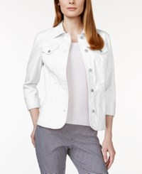Charter Club Long Sleeve Denim Jacket Only At Macy's Bright White