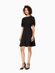 Kate Spade Sequin Fringe Swing Dress Black