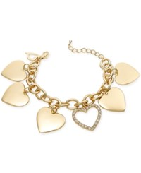 Thalia Sodi Gold Tone Crystal Heart Charm Bracelet Only At Macy's
