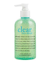 Philosophy Clear Days Ahead Oil Free Salicylic Acid Acne Treatment Cleanser 8.0 Oz. No Color