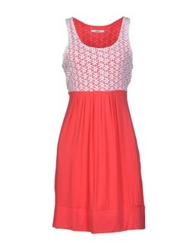 Lucky Lu Short Dresses Coral