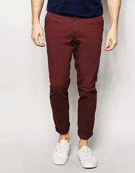 Jack And Jones Jack And Jones Slim Fit Chinos With Stretch Red