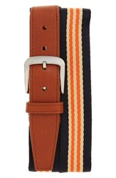 Men's Shinola Stripe Web Belt