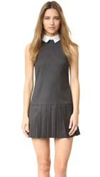 Alice Olivia Alice Collared Dress Dark Charcoal