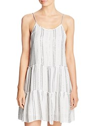 Sundress Rocky Summer Dress Swim Cover Up White Grey Stripe
