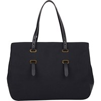 Tomas Maier Women's Adjustable Handle Tote Black Blue Black Blue