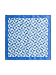 Paul Costelloe Blue Geometric Pocket Square