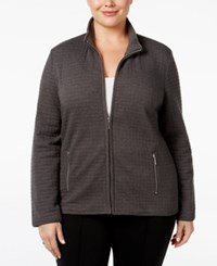 Karen Scott Plus Size Quilted Jacket Only At Macy's Charcoal Heather
