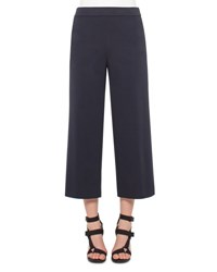 Akris Punto Stretch Jersey Culottes Navy