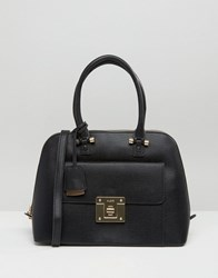 Aldo Dome Tote Bag With Lock Detail Black