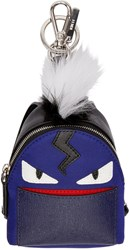 Fendi Blue Mini Backpack Keychain