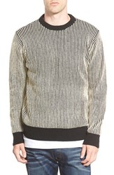 Men's Obey 'Sloper' Stripe Crewneck Sweater