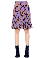 Marco De Vincenzo Printed Pleated Sable Skirt
