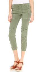 Nili Lotan Cropped Military Pants Camo Green