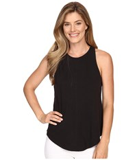 Lilla P Flame Voile Racerback Tank Top Black Women's Sleeveless
