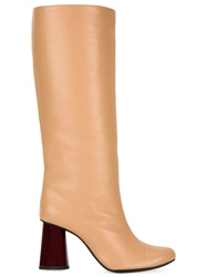Carven Sculpted Heel Boots Nude And Neutrals