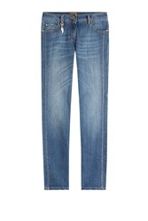 Roberto Cavalli Straight Jeans With Contrast Stitching Blue
