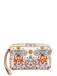 Manish Arora Embellished And Printed Leather Clutch