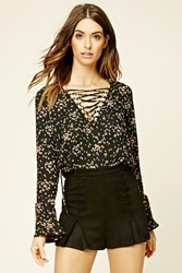 Forever 21 Contemporary Lace Up Top