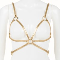 Fraulein Kink Champagne Cage Bra Harness