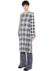 Calvin Klein Twill Plaid Silk Tunic Dress