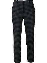 Theory Check Cropped Trousers Grey