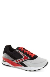 Brooks Men's 'Regent' Sneaker Black High Risk Red Silver