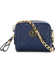 Moncler Quilted Cross Body Bag Blue