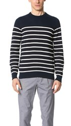 Ben Sherman Striped Sweater Navy Blazer