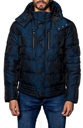 Jared Lang Men's Alaska Camo Down Puffer Coat Navy Camo