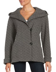 Gallery Plus Woven Hooded Jacket Charcoal