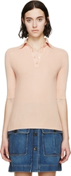 Chloe Pink Cashmere Polo Shirt
