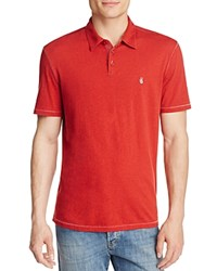 John Varvatos Star Usa Heathered Peace Slim Fit Polo Shirt Brick Red