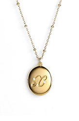 Women's Kate Spade New York Initial Locket Pendant Necklace Gold X