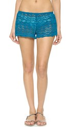 Eberjey Desert Star Sam Beach Shorts Tourmaline Blue