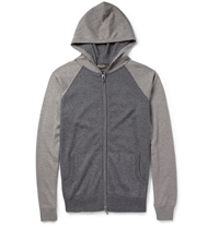 Loro Piana Silk And Cashmere Blend Hoodie Gray