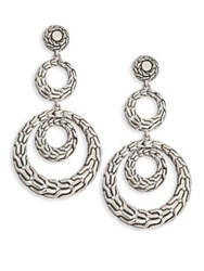 John Hardy Classic Chain Sterling Silver Long Drop Earrings