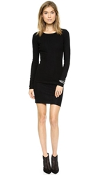 La't By L'agence Long Sleeve Fitted Dress Black