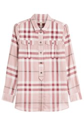 Burberry Brit Printed Cotton Shirt Rose