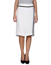 Emporio Armani Knee Length Skirts White