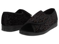 Foamtreads Marla Black Tapestry Women's Slippers Multi