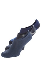 Converse 3 Pack Trainer Socks Navy Dark Blue