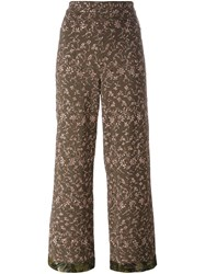 Etro Floral Embroidered Trousers Green